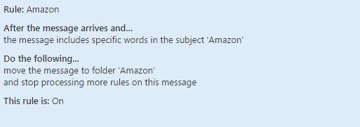 Amazon Rule